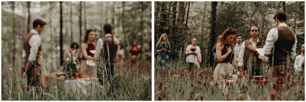 62- Forest wedding boho enchanched fairytale wedding atlanta - ga , intimate, elopement, nature, greens, good vibes. Aline Marin Photography .jpg