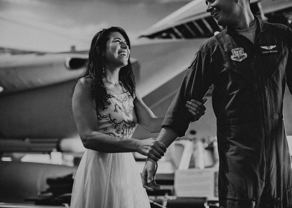 1 Natalia & Derek - Museum of aviation engagement shoot - preview - Aline Marin Atlanta Photographer .jpg