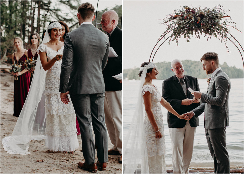 100 - Bride walking down the aisle -  Wedding Ceremony - Destination Wedding : Beach : Lake Wedding Atlanta Wedding Photographer .jpg
