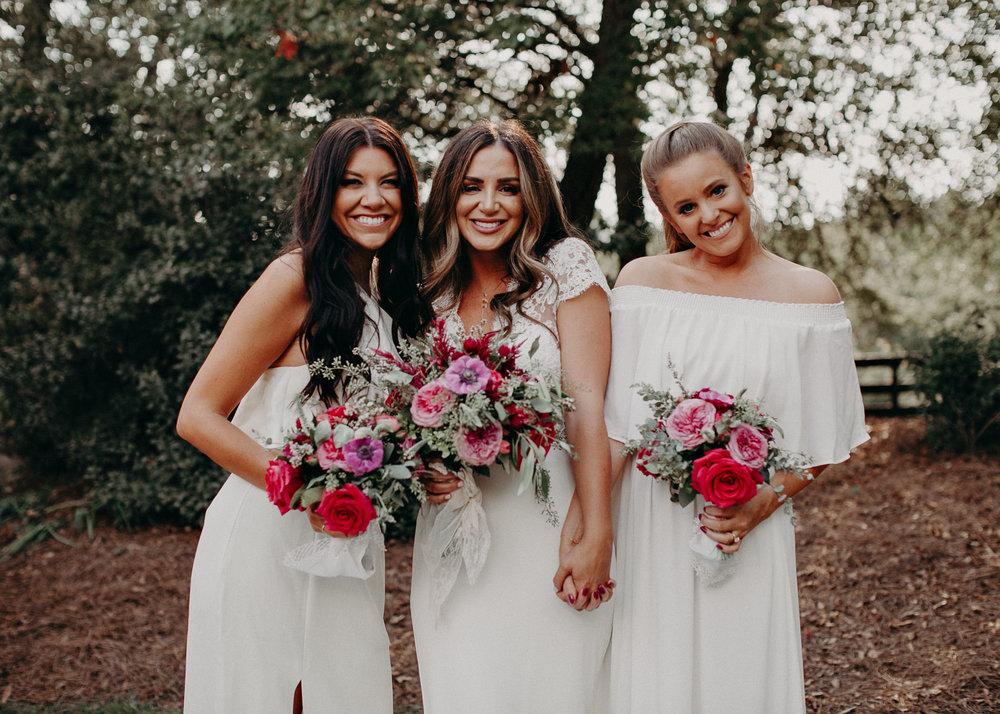 37 - wedding dress, bouquet - bride getting ready wedding seranbi farms atlanta .jpg