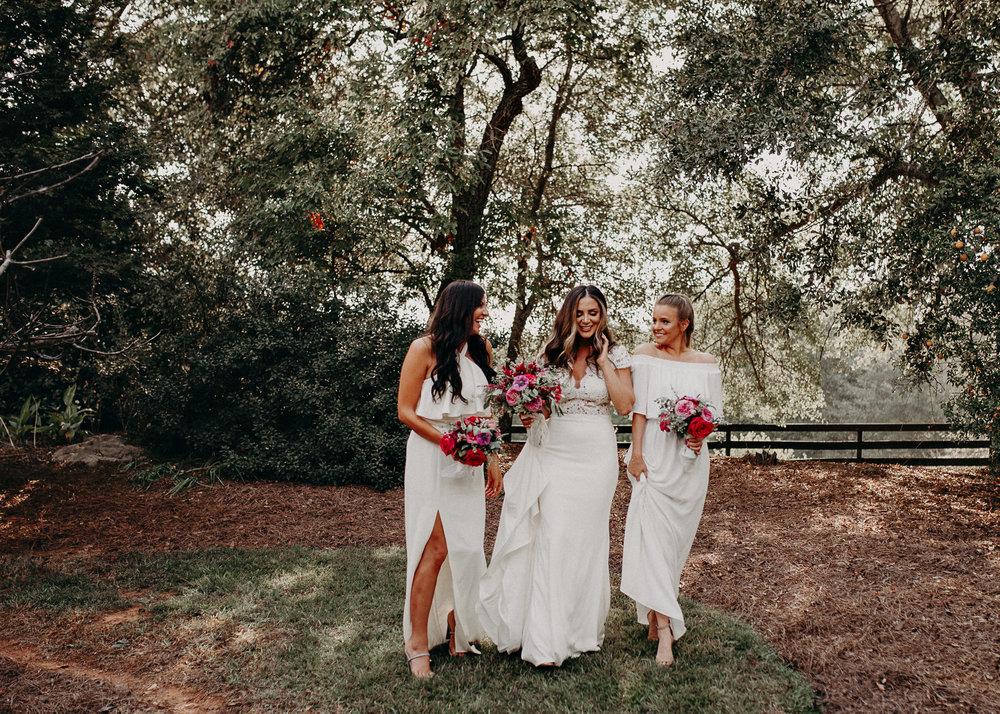 38 - wedding dress, bridesmaids, bouquet - bride getting ready wedding seranbi farms atlanta .jpg