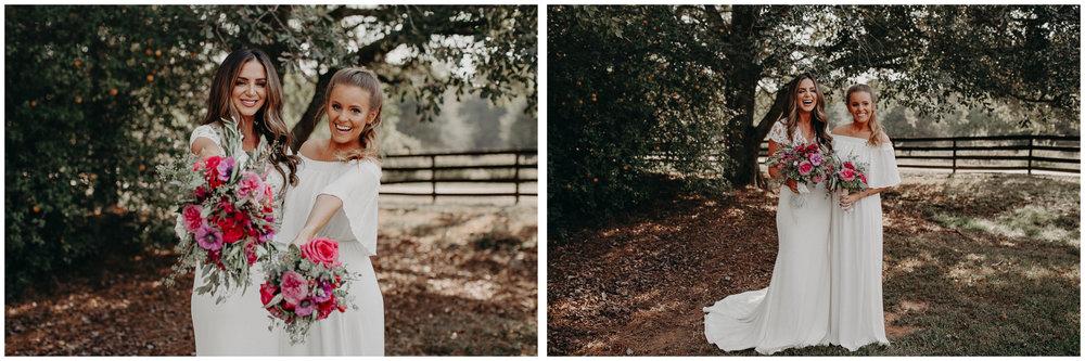 41 - wedding dress, bridesmaids, bouquet - bride getting ready wedding seranbi farms atlanta .jpg