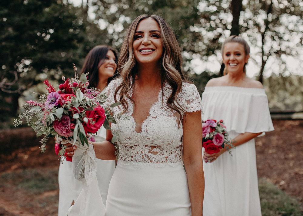 40 - wedding dress, bridesmaids, bouquet - bride getting ready wedding seranbi farms atlanta .jpg