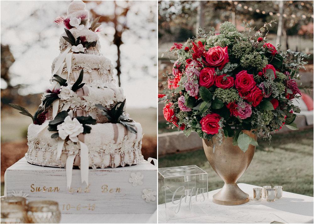 51 - details, cake, flowers, wedding dress, bridesmaids, bouquet - bride getting ready wedding seranbi farms atlanta .jpg