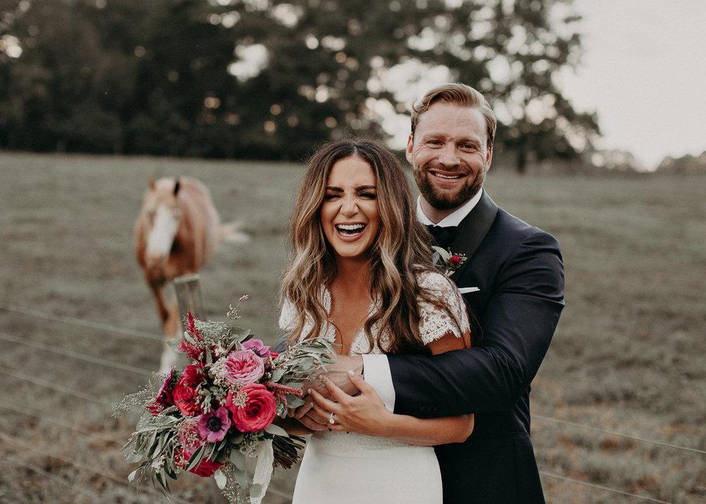 91 - Bride and groom portraits with horse in wedding serenbi farms atlanta .jpg