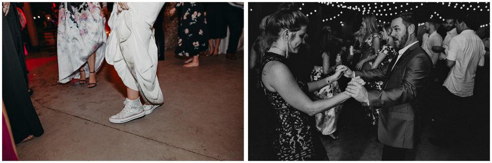 147 - Fun Wedding Reception, Bride in sneakers at serenbi farms atlanta .jpg
