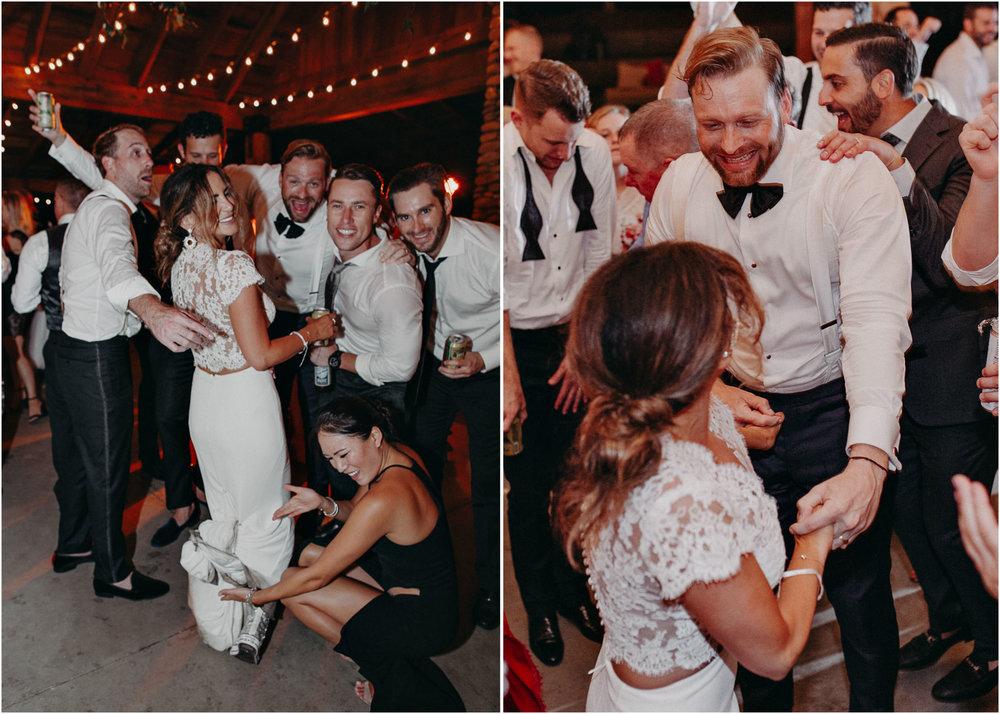 149 - Fun Wedding Reception, Bride in sneakers at serenbi farms atlanta .jpg