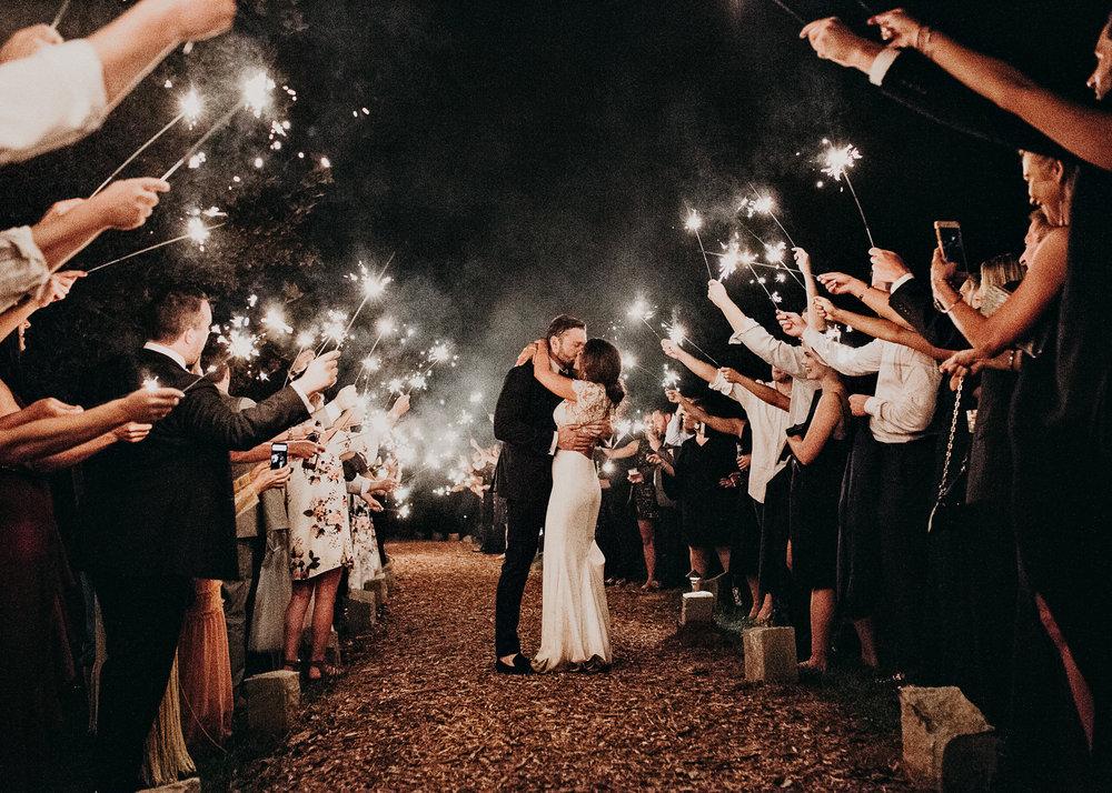 151 - Fun Wedding Reception, Sparklers exit, Bride in sneakers at serenbi farms atlanta .jpg