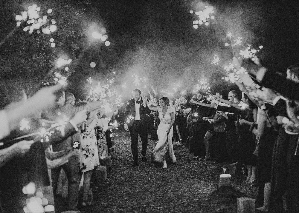 150 - Fun Wedding Reception, Sparklers exit, Bride in sneakers at serenbi farms atlanta .jpg