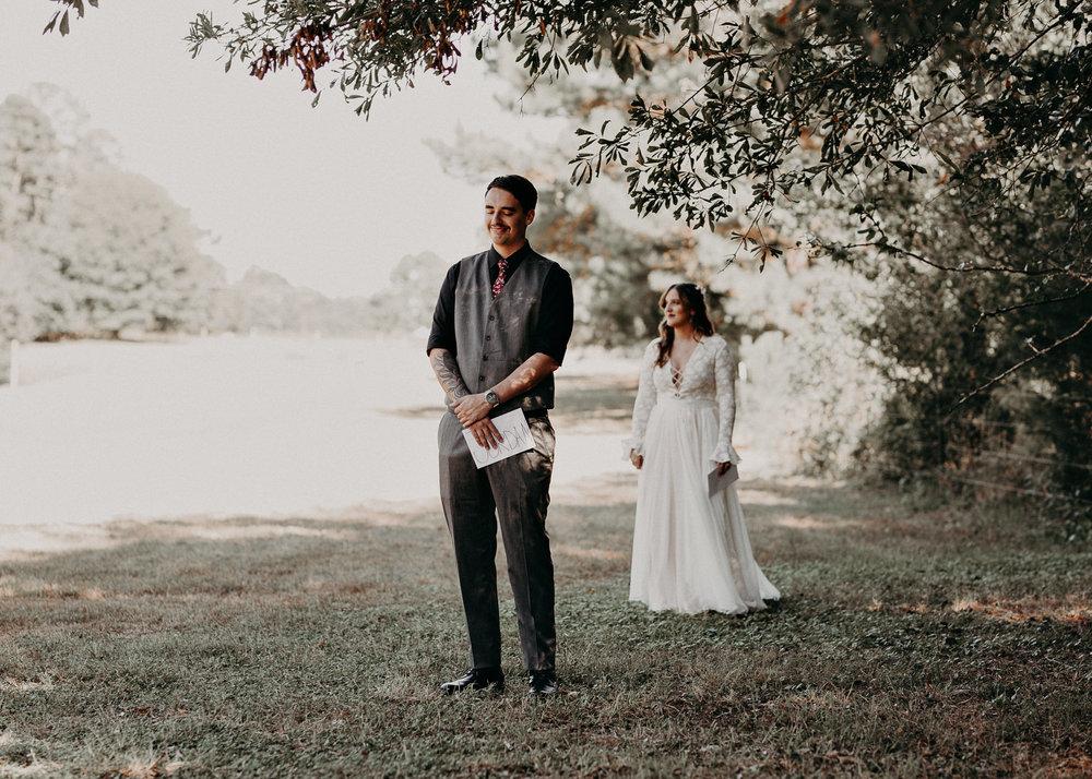 38 - Wedding first look : Atlanta wedding photographer .jpg