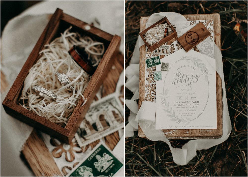 8 - Wedding details : bouquet : rings : Deep South Farm Wedding Venue : Atlanta Wedding Photographer .jpg