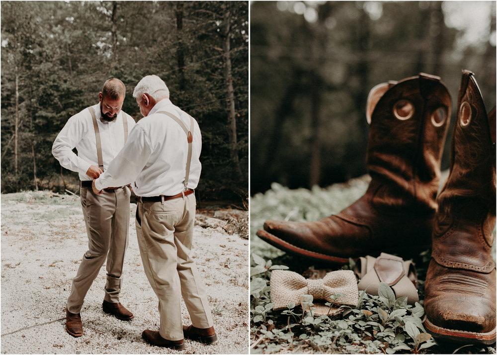 12 - Wedding details : groom getting ready: groomsmen : Deep South Farm Wedding Venue : Atlanta Wedding Photographer .jpg