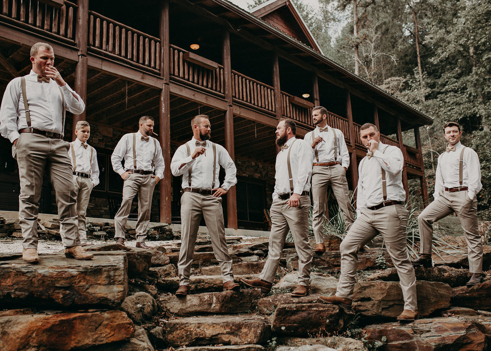 17 - Wedding details : groom getting ready: groomsmen : Deep South Farm Wedding Venue : Atlanta Wedding Photographer .jpg