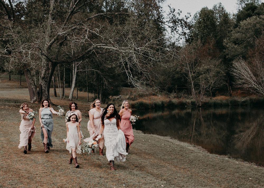 52 - Wedding details : bride running : funny picture : getting ready: bridesmaids : Deep South Farm Wedding Venue : Atlanta Wedding Photographer .jpg