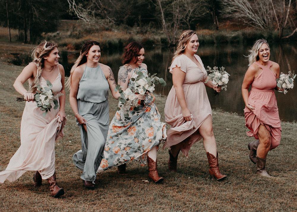 53 - Wedding details : bride running : funny picture : getting ready: bridesmaids : Deep South Farm Wedding Venue : Atlanta Wedding Photographer .jpg