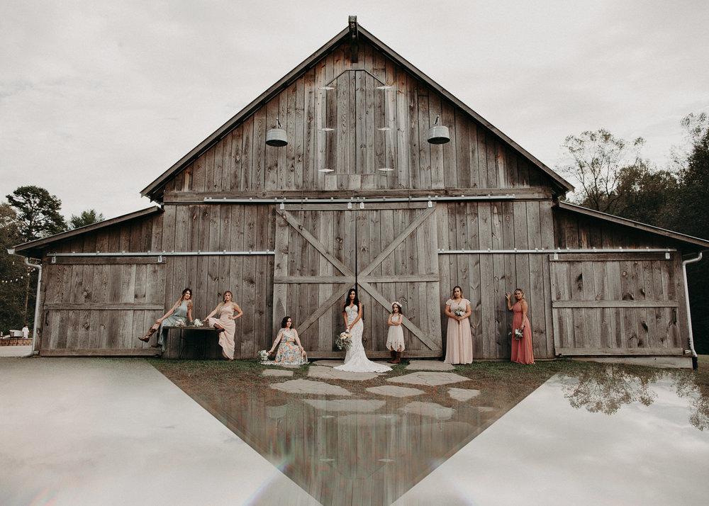 57 - Wedding details : Bride and bridesmaids portraits  : Deep South Farm Wedding Venue : Atlanta Wedding Photographer .jpg
