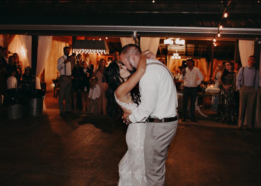 144 - Wedding couples portraits first dance : reception : Deep South Farm Wedding Venue : Atlanta Wedding Photographer .jpg