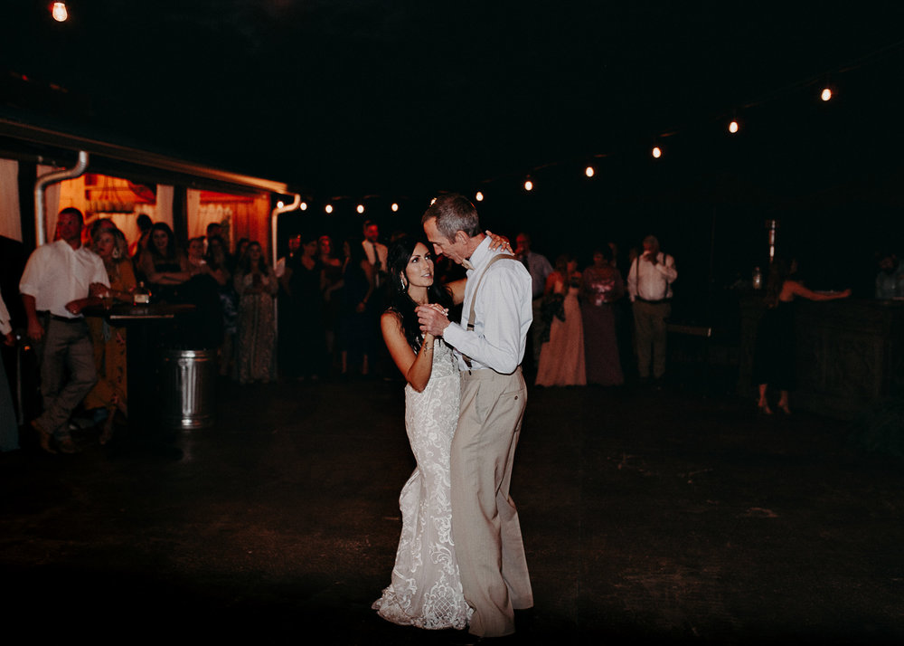 147 - Wedding father daughter dance : reception : Deep South Farm Wedding Venue : Atlanta Wedding Photographer .jpg