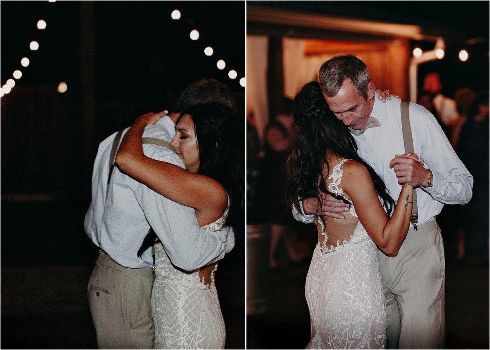 148 - Wedding father daughter dance : reception : Deep South Farm Wedding Venue : Atlanta Wedding Photographer .jpg