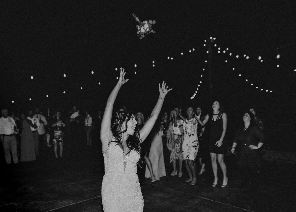 162 - Wedding reception dances : bouquet toss : Deep South Farm Wedding Venue : Atlanta Wedding Photographer .jpg