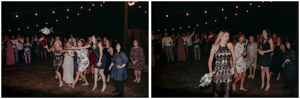 164 - Wedding reception dances : bouquet toss : Deep South Farm Wedding Venue : Atlanta Wedding Photographer .jpg