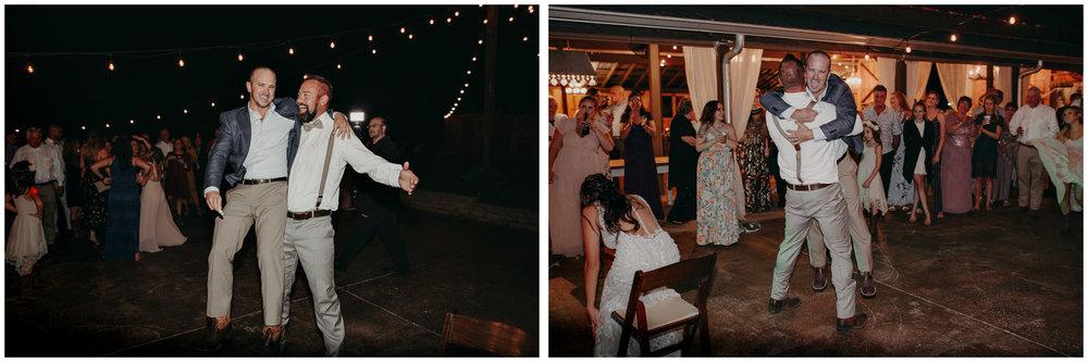 166 - Wedding reception dances : bouquet toss : Deep South Farm Wedding Venue : Atlanta Wedding Photographer .jpg