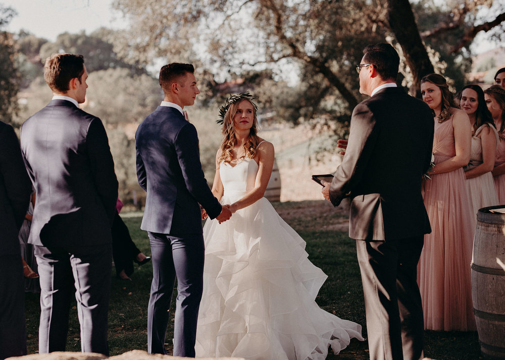 90 - Wedding ceremony - Portraits : Bride and groom and bridal party : wedding venue San Diego - Milagro Winery Ramona - CA - Atlanta Wedding Photographer .jpg.JPG