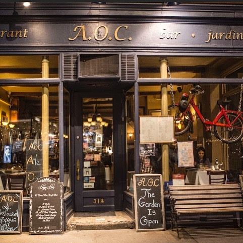 Just look for the bike in the window and you've made it to your destination! 🚲 Join @aoc_nyc for an exquisite dinner🍴