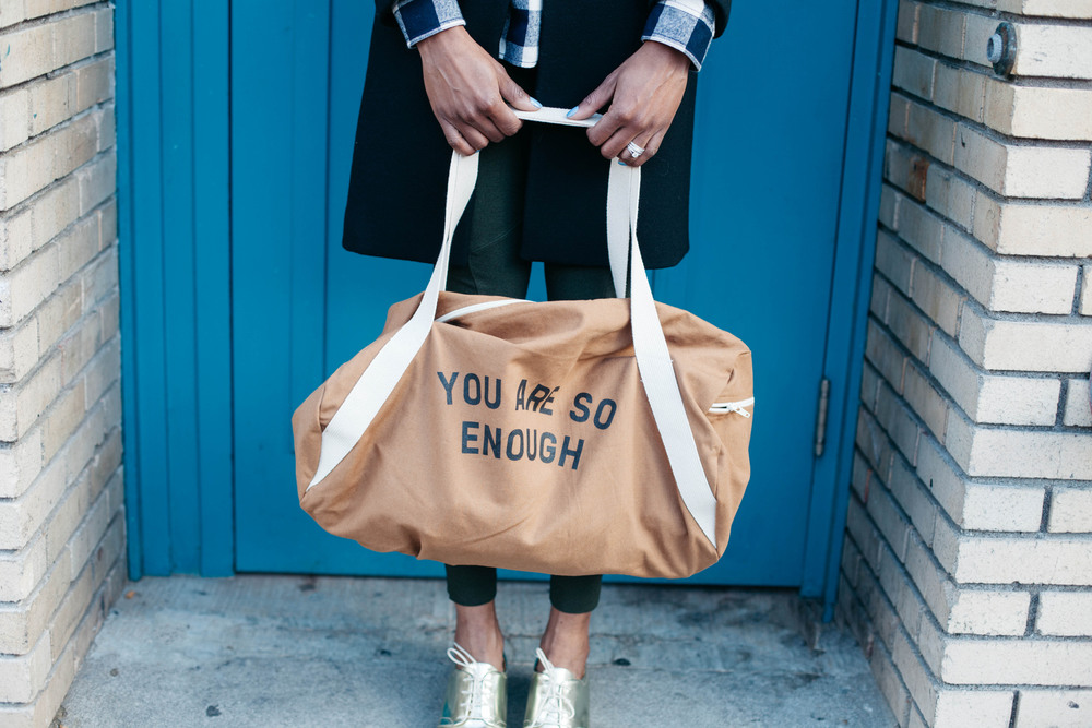 This bag is from Mulberry Press Co, a wonderful lifestyle brand that's dedicated to delivering inspiration and positivity. What's not to love about that :)