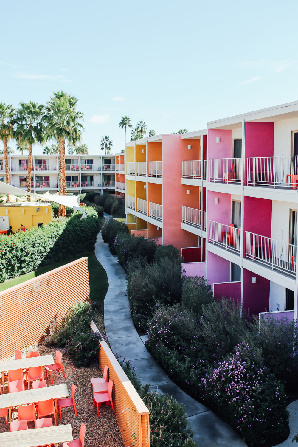 Our stay at the  Saguaro  injected the vibrancy of what Palms Spring might have been in the 20's. There's about 12 colors that fill your visual senses and it's pure joy!
