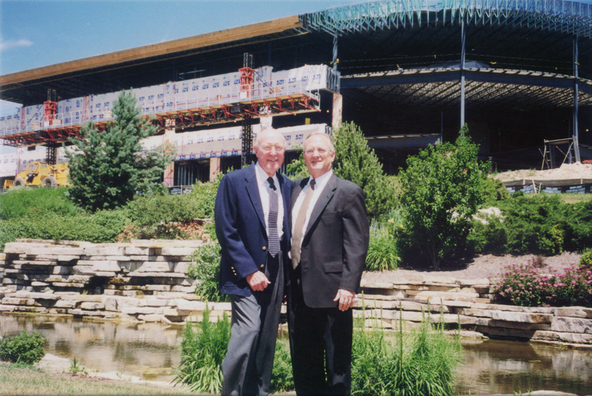 65. John and Bill, new building.jpg