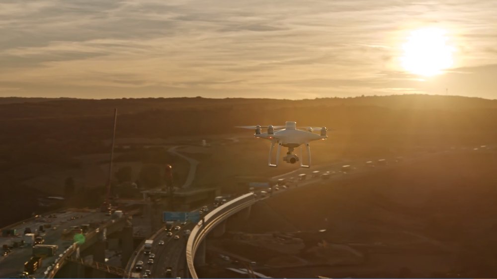 Drone over construction ( photo credit: DJI )