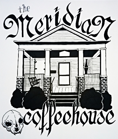 The Meridian Coffeehouse - T-Shirt design
