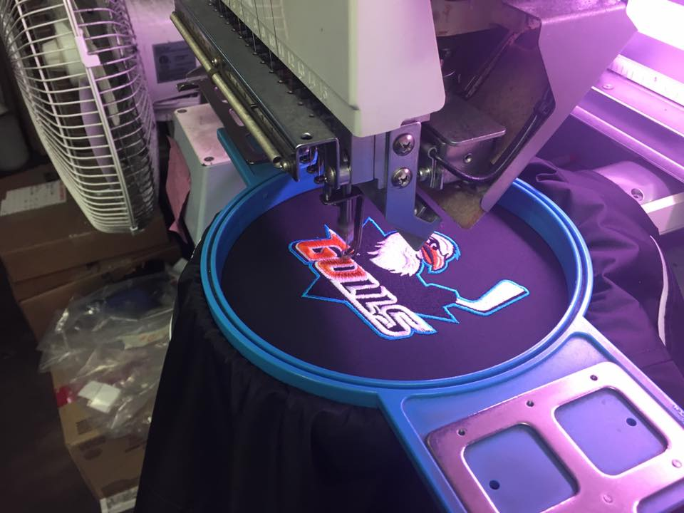 Embroidery - We outfit restaurants, hotels, hospitals and more with the highest quality embroidered apparel. You may have seen our work at with the San Diego Gulls, Thorn Street Brewery, Toyota and many others!Learn More