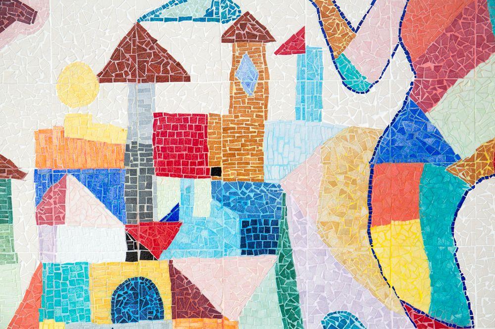 création d'une fresque mosaïque à l'école F. Dolto à Bois Colombes