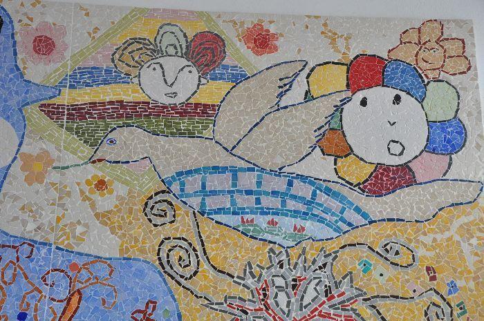 réalisation d'une fresque mosaïque à l'école Marsault à La Garenne Colombes