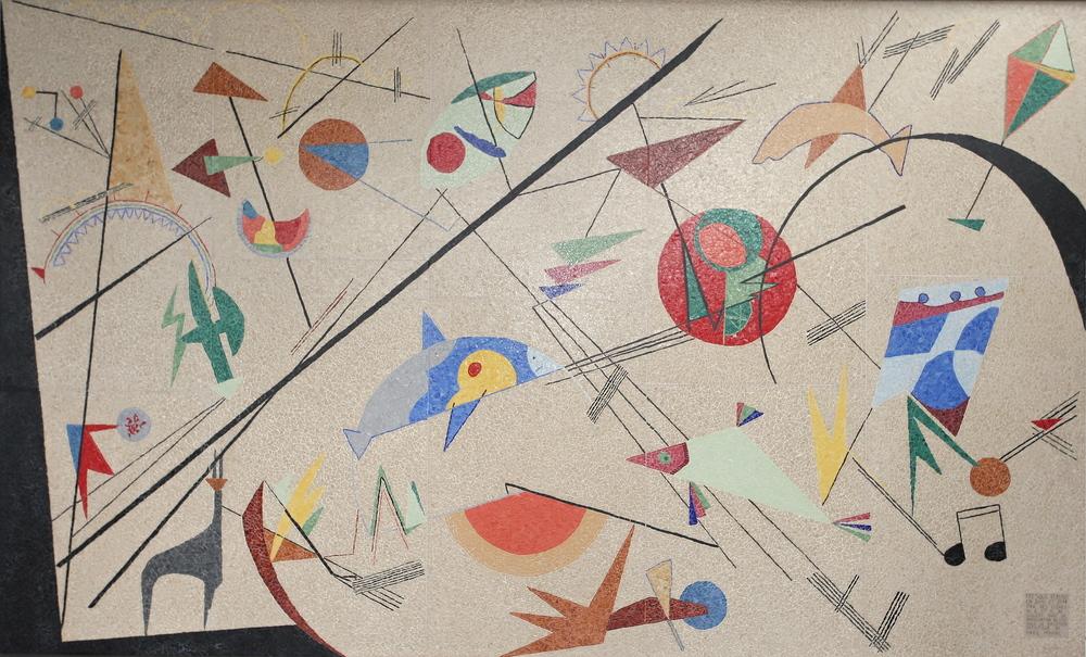 fresque librement inspirée de Kandinsky
