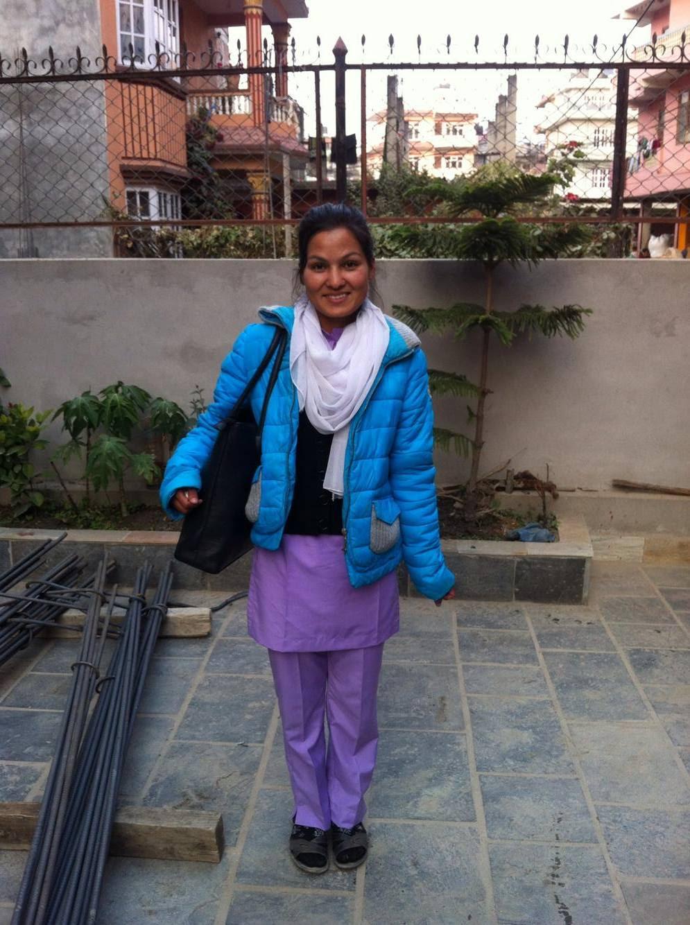 Sunita in her brand new nursing school uniform!