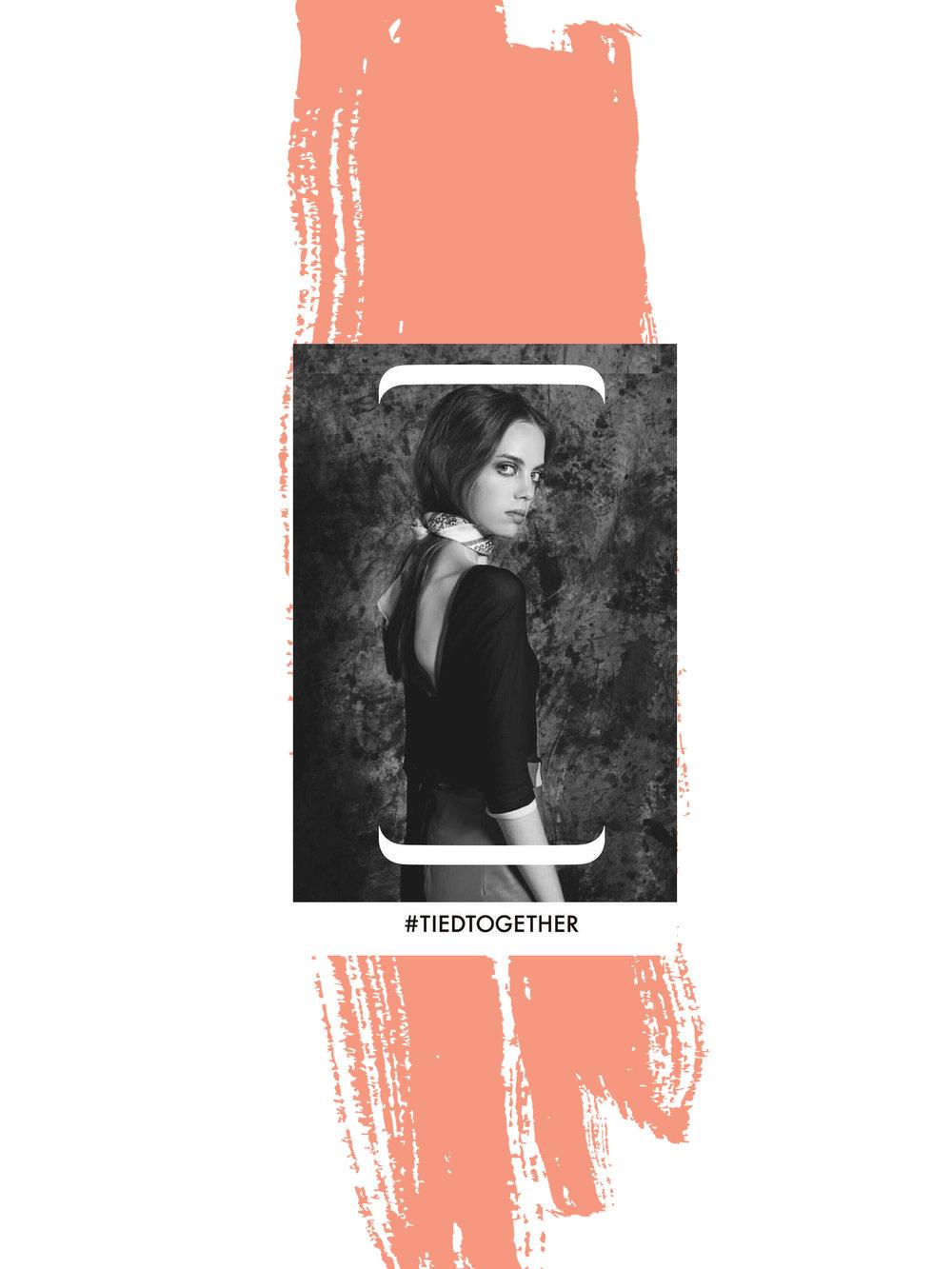 La modelo mexicana Mariana Zaragoza, apoyando la iniciativa. Edición FW 2017 de MBFWMX