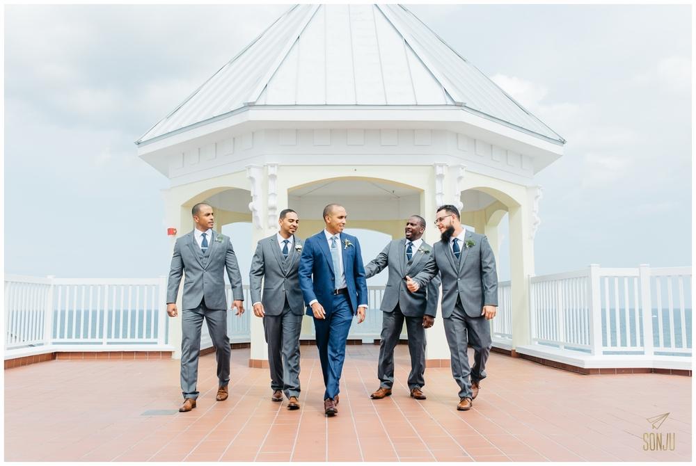 Groomsmen at the Pelican Grand Resort Fort Lauderdale Florida