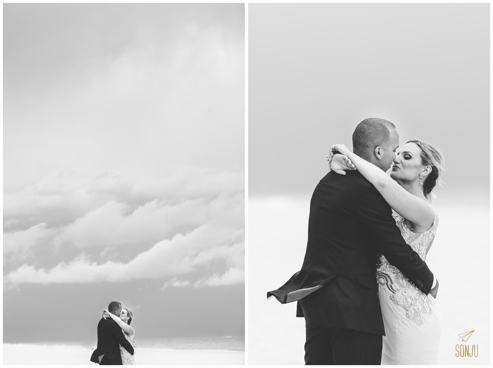 black and white stormy wedding photos