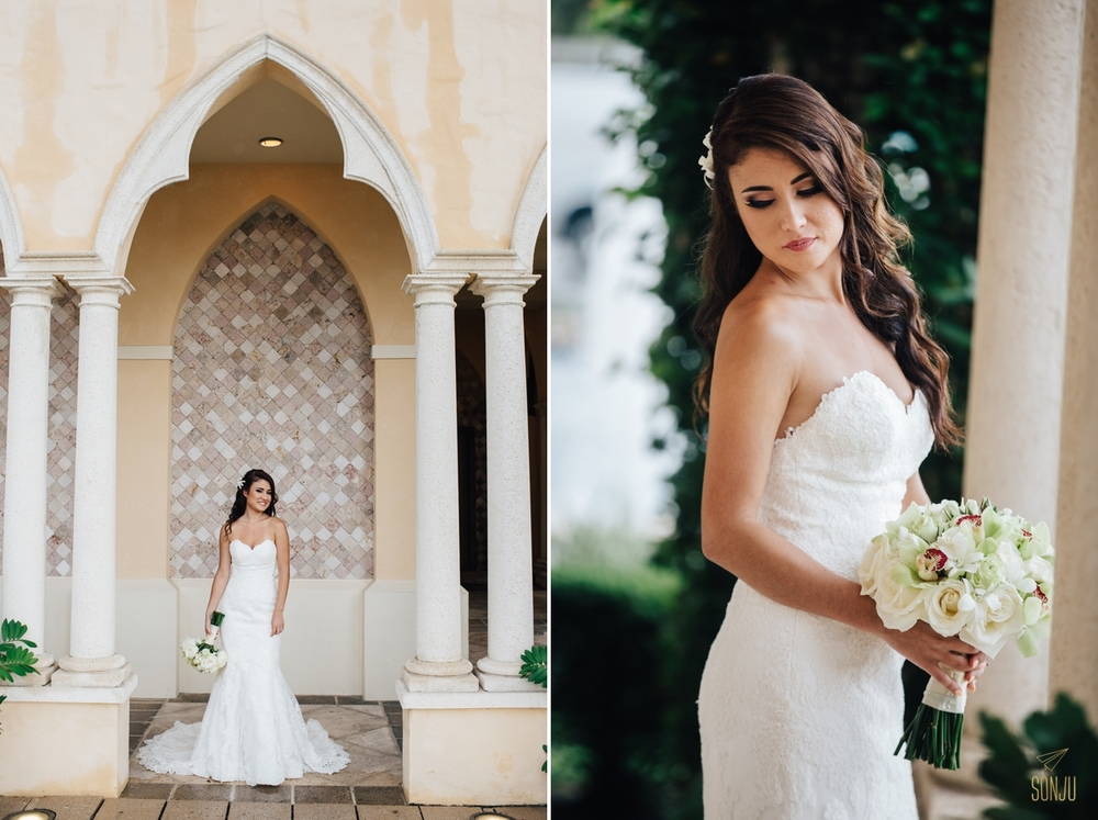Bridal portraits at the Addison Boca Raton