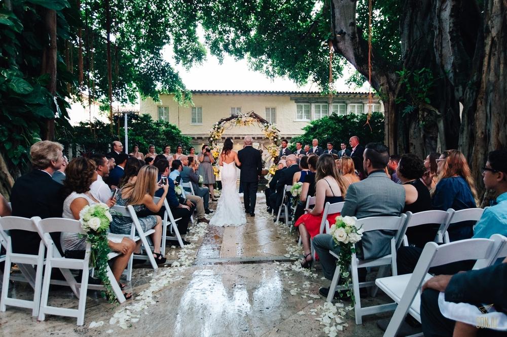 Rainy day wedding at the Addison Boca Raton