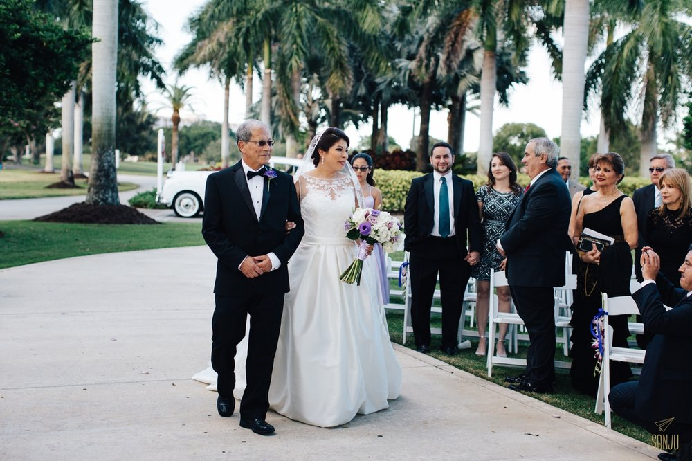 South Florida outdoor wedding ceremony