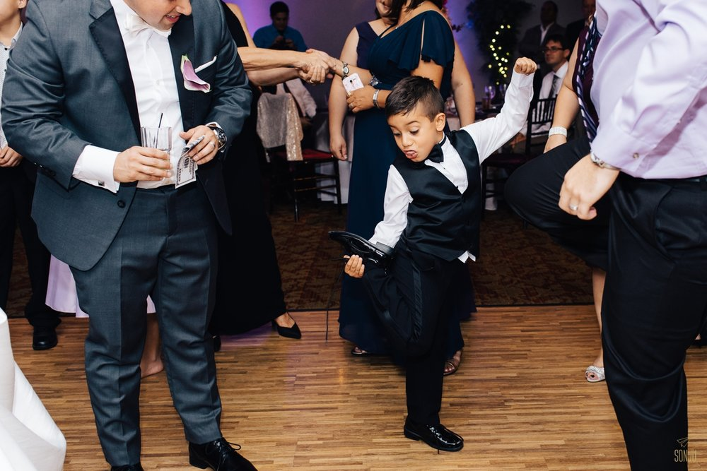 Kid on dance floor at Jacaranda Country Club