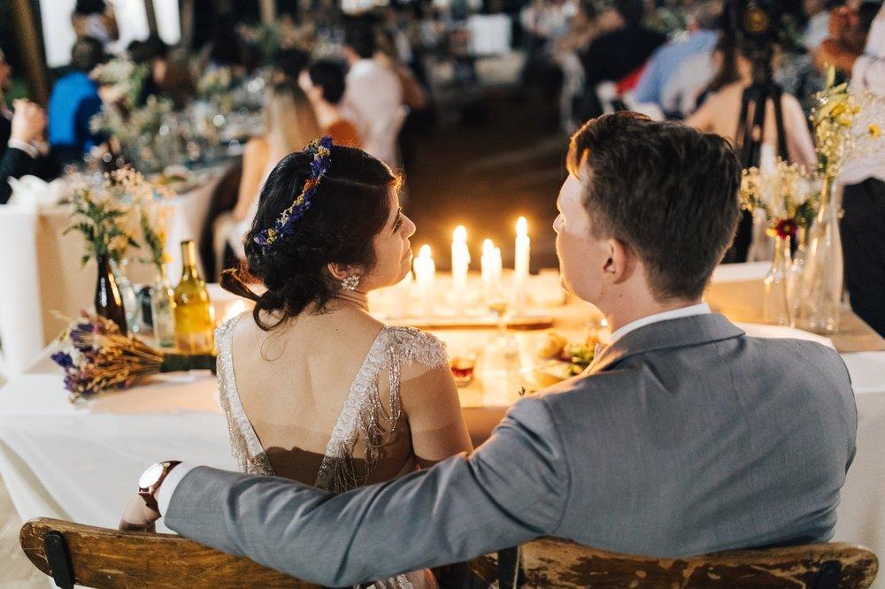 candlelight wedding reception