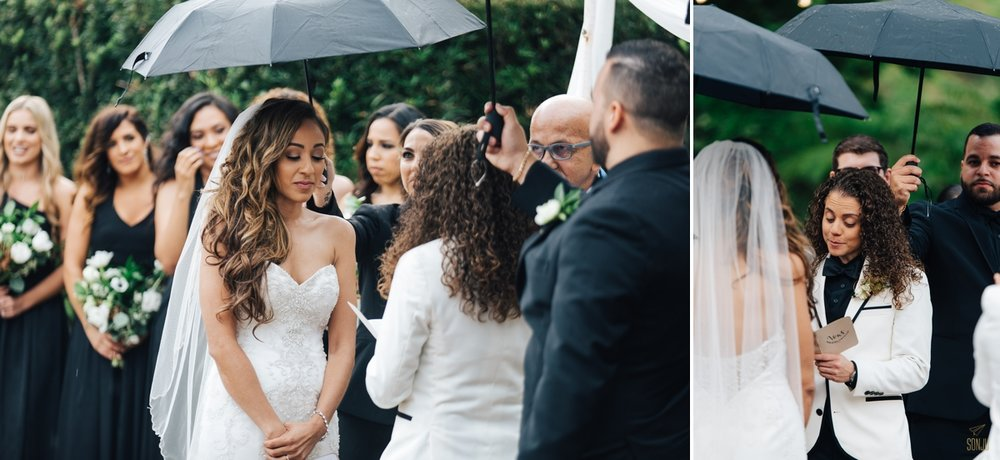 Rainy Day wedding ceremony in South Florida