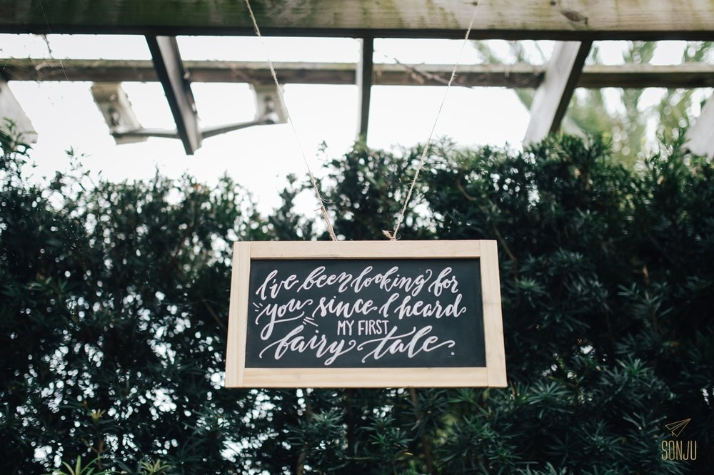 Wedding sign by Wynwood Letters