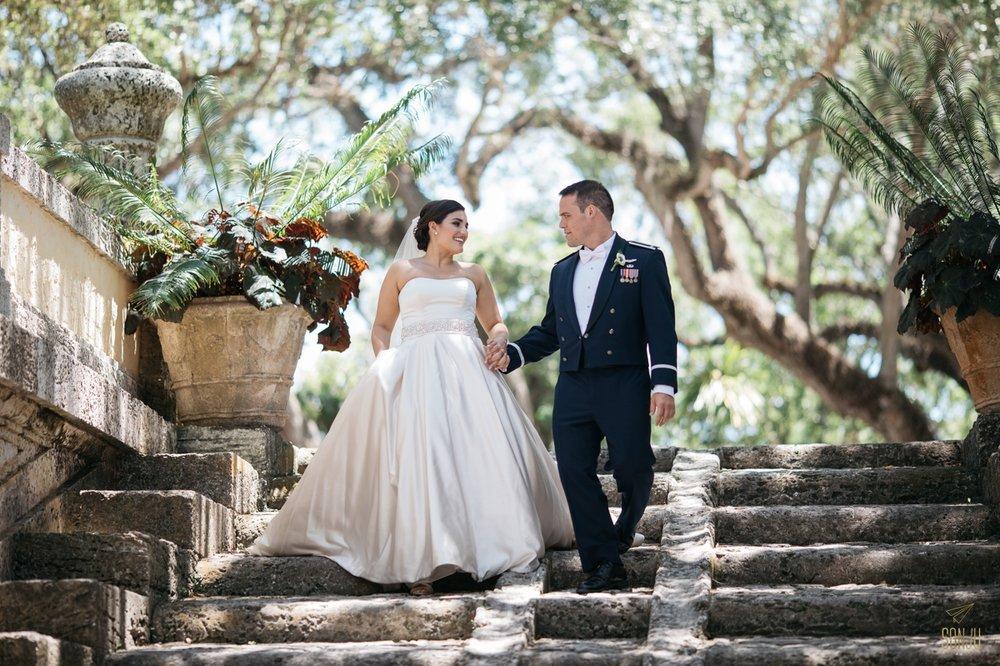 Wedding at Vizcaya South Florida Wedding venue