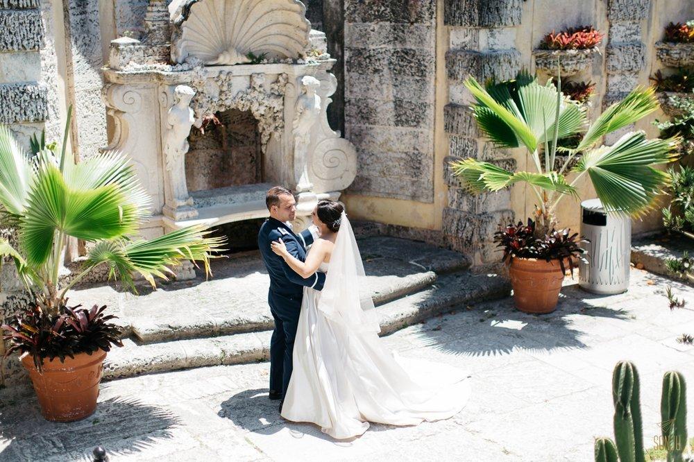 Slow dancing at Vizcaya South Florida Wedding Photographer